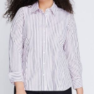 Fitted Essential Shirt Aspen Stripe Plus 18 Pink